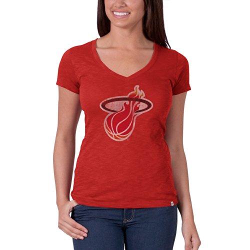NBA Miami Heat Women's V-Neck Scrum Tee, Rebound Red, X-Large