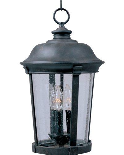Dover Hanging (Maxim Lighting 40099CDBZ Dover Vivex 3-Light Outdoor Hanging Lantern, Bronze Finish with Seeded Glass by Maxim Lighting)