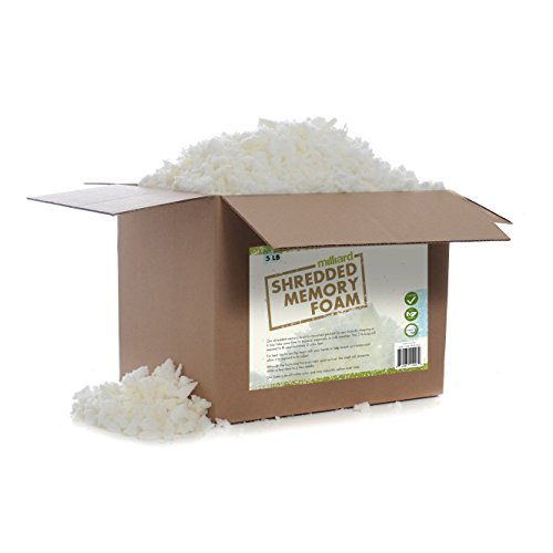 Lowest Prices! Milliard Shredded MEMORY Foam: (5 Pounds) Refill for Pillows, Cushions, Chairs, Dog B...