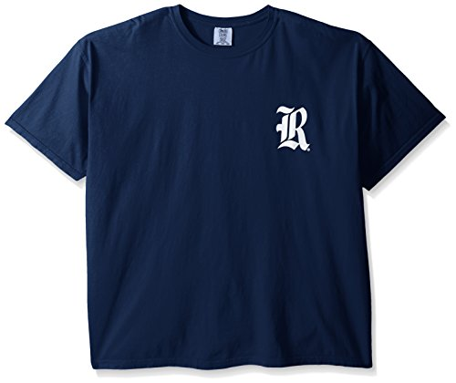 NCAA Rice Owls State Baseball Laces Short Sleeve Comfort Color T-Shirt, XX-Large,TrueNavy