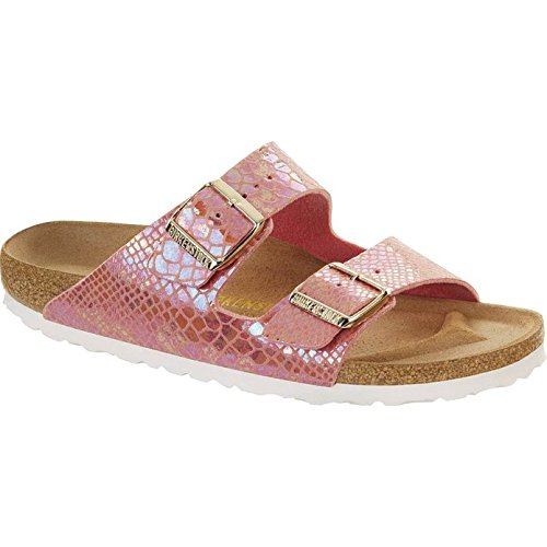 Birkenstock Women's Arizona Shiny Snake Birko-Flor Rose 36 N