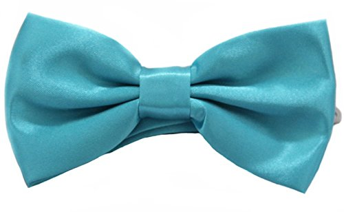 Soophen Pre Tied Mens Adjustable Bow Tie Turquoise