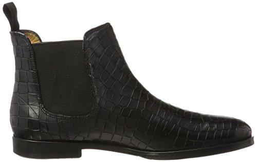 Melvin & Hamilton Women's Susan 10/a Chelsea Boots, Brown Black (Crock Black, Ela. Blk, Hrs Crock Black, Ela. Blk, Hrs)