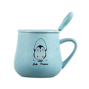 Good quality Taza de café de cerámica Taza taza de dibujos animados linda Copa de gran capacidad Taza de avena Taza Taza de leche creativa Copa de porcelana ...