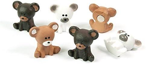 6 x Kühlschrankmagnete Bär 23x20x10mm Magnete für Pinnwand Magnettafel - Magnete für Kühlschrank, Magnetboard, Kinder Magnetwand, Tiermagnete