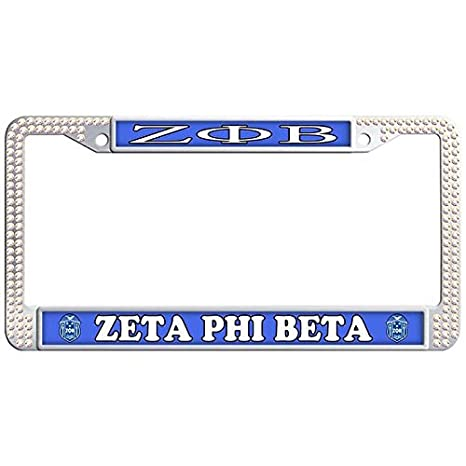 Amazon.com: Dasokao ZETA PHI BETA Waterproof Car License Plate Frame ...