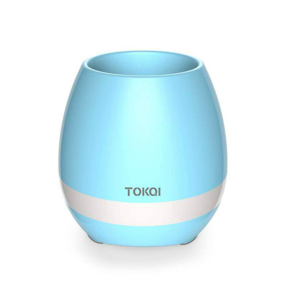 Music Flower Pot Planter, Wireless Bluetooth Speaker, Smart Touch Music Flower Pot by, Multicolor Night Light, Play Piano Music on a Real Plant