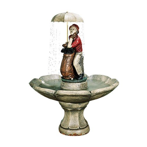 Henri Studio 4 Piece Golfer Fountain, Large, Relic Sargasso