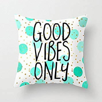 Funny Good Vibes Only Throw Pillow Covers Decorative Home De