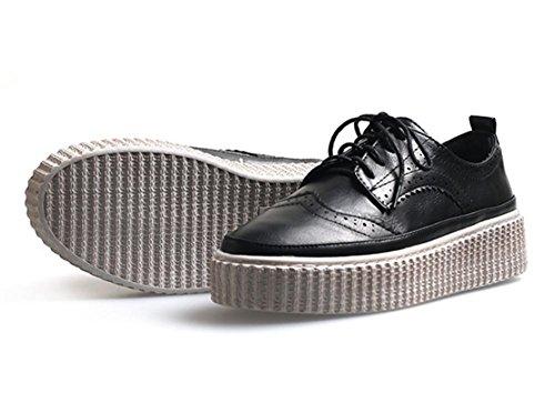 los zapatos del elevador Ms Spring gruesos zapatos de la corteza del mollete zapatos de encaje , US6 / EU36 / UK4 / CN36