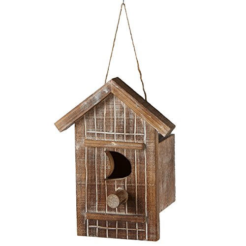 Outhouse Miniature Wooden Birdhouse Christmas Ornament Figurine (Outhouse Ornaments)