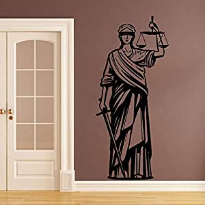 wangpdp Themis Diosa Griega de la Justicia Etiqueta de la Pared ...