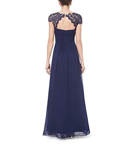 Dress Formal Women's Evening Sleeve Long AK Vermilion Cap Beauty Chiffon Pwq1SRa