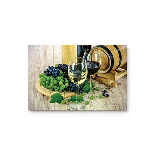Bulingling Indoor Entrance Rug Floor Mats Non-Slip Shoe Scraper Doormat Front Door/Bathroom/Kitchen Carpet Bedroom Door Mat - Liqueur Wine Glass and Fruit 31.5 x 20 Inch - Glass Liqueur