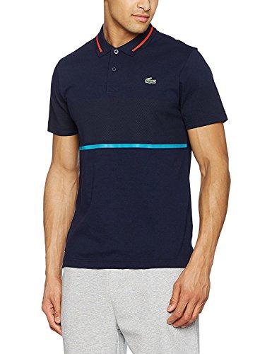 Lacoste Men's Men's Sport Pique Navy Polo in Size 4-M Navy