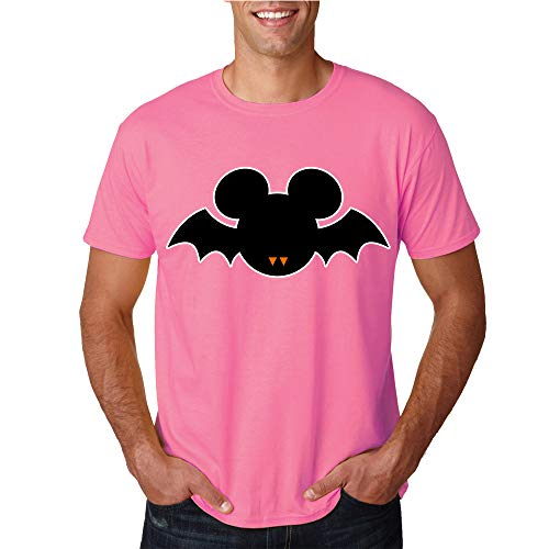 Pink T-Shirts for Men Mickey Mouse Disney Land Halloween Scary Costume Design X-Large Cotton Men's Tee Shirts -