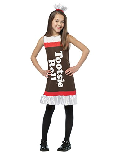 Child Tootsie Roll Costume Dress - (Tootsie Roll Child Costume)