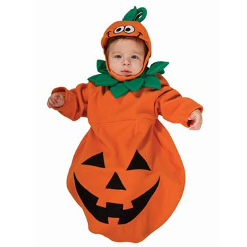 Rubies Pumpkin Infant Halloween Costume (Rubie's Costume Baby Bunting, Pumpkin Costume, 1 to 9 Months)