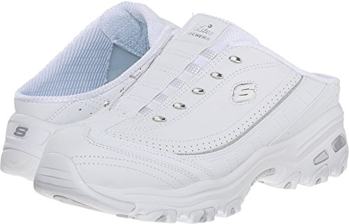Skechers Sport Women's Bright Sky Fashion Sneaker, White/Silver, 9 M US