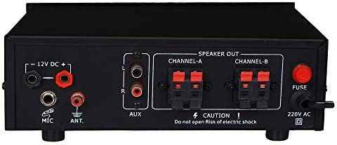 KEKROWN 6000W PMPO Home Series Stereo (4 Way) Amplifier with Bluetooth; USB; FM and Mic Input - KHS-302