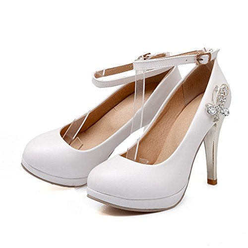 White Gomma Diamond Pumps shoes Fibbia Girls In 1to9 Vetro Engagement IYOzfFqn