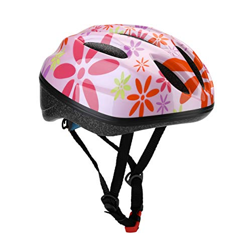 Dostar Kid's Bike Helmet, Youth Lightweight Road Mountain Racing Adjustable Cycling Multi-Sport Safety Bike Skating Scooter Bicycle Helmets for 5-14 Years Old Boys/Girls (Eight Petals Flower-Pink) - Bicycle Helmet Racing