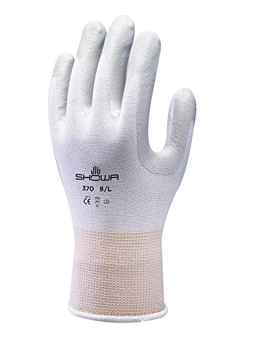 Showa Gloves SHO370-XS No.370 Palm Fit Glove, Size: XS, White/Grey