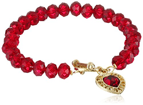 1928 Jewelry Classic Red Faceted Crystal Toggle with Fili...