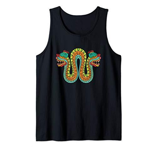 Double Headed Serpent - Aztec Snake Tank Top ()