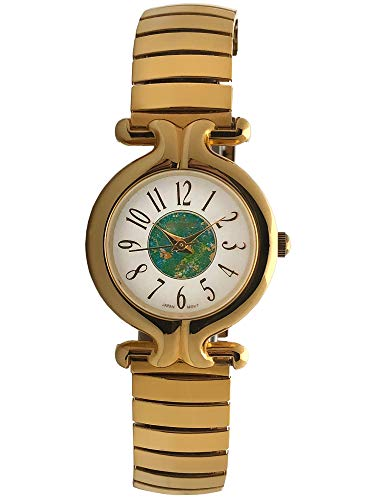 (Peugeot Women's Gold-Tone Expansion Band Wrist Watch with Full Arabic Numerals on Easy-to-Read Dial)