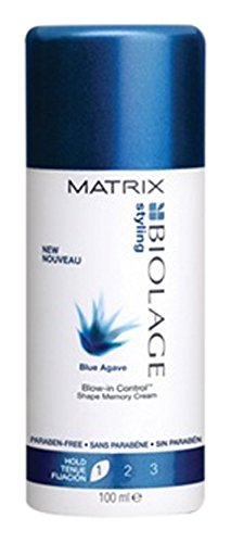 Matrix Biolage Styling Blue Agave Blow-In Control Shape Memory Cream, 3.4 Ounce