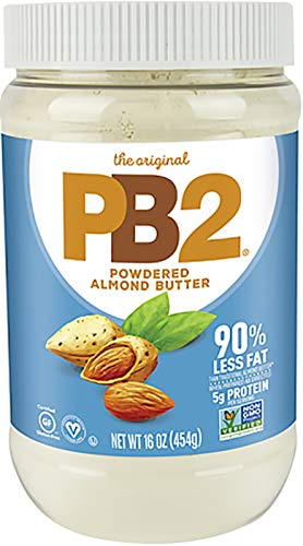 PB2 B2 Powdered Almond Butter, 16oz Low-Fat Vegan Almond Powder, Low Carb Nut Butter, Non-GMO, Gluten Free, Kosher
