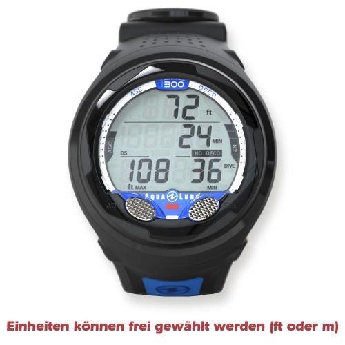 Aqua Lung i300 Wrist, Black / Blue (Discontinued)