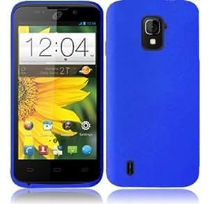 Cerhinu For ZTE Majesty Z796C Silicone Jelly Skin Cover Case (Dark Blue)