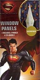 Superman Man of Steel Window Panels Curtains Drapes, Set of 2