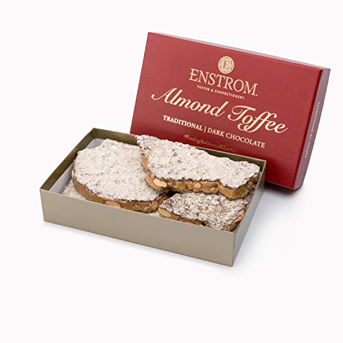 ALMOND TOFFEE - 1lb. DARK CHOCOLATE