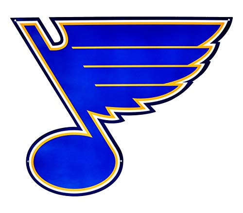St. Louis Blues Heavy Duty Metal Wall Decor, Sign for Indoor, Outdoor Use