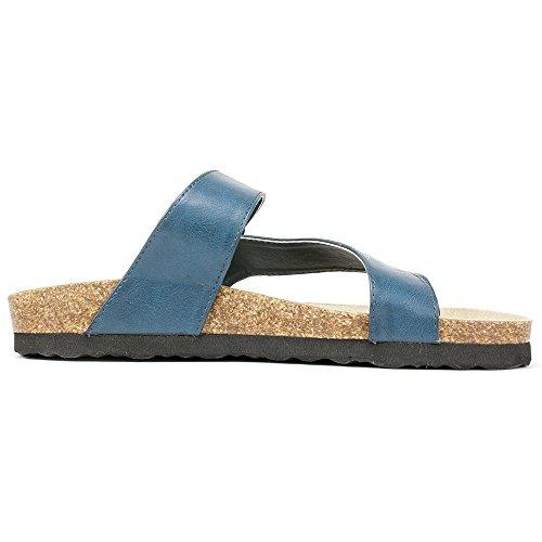 Rialto Shoes 'FARLEY' Women's Sandal, Navy - 8 M Photo #2
