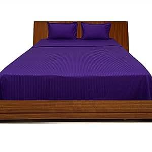 Fadendichte 300Georgeous 4Wasserbett Spannbetttuch Streifen (Pocket Größe: 35,6cm), baumwolle, Purple Stripe, EU_Super_King