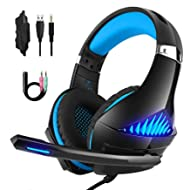 DeepDream Stereo Gaming Headset GM-5 with Noise Cancelling Mic, Led Lights, Volume Control –...