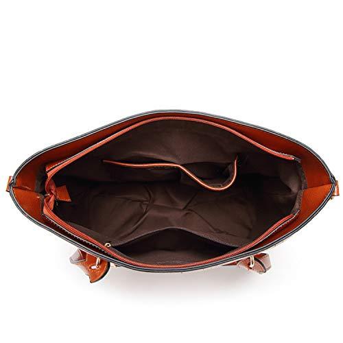 main cuir pour Rouge Sunonip Grand Sacs PU à C650 femmes en à bandoulière sac Décontracté BUnxEwnFq
