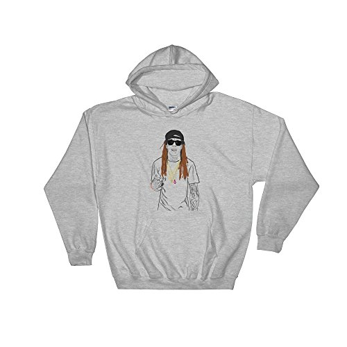 Babes & Gents LIL Wayne Tunchi Grey Hoodie Sweater (Unisex) - Wayne Style Lil