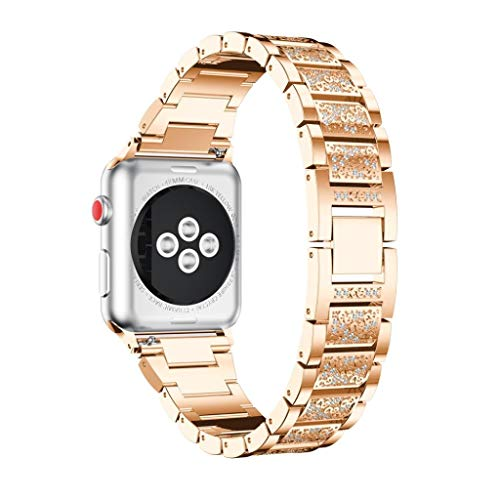 For Apple Watch Series 3, Forthery Milanese Loop Stainless Steel Replacement Bracelet Iwatch Band For Apple Watch Band Series 3 (42MM, Rose Gold)