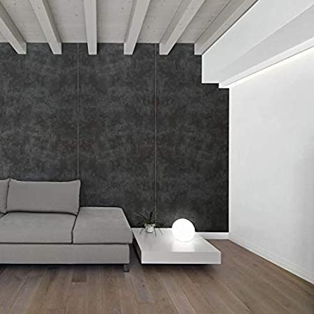 Panel de pared aspecto hormigón WallFace 19092 CEMENT DARK Panel decorativo texturado de aspecto piedra mate autoadhesivo antracita 2,6 m2: Amazon.es: ...