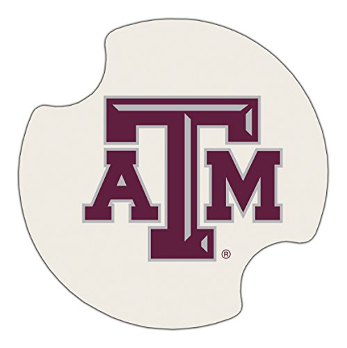 Thirstystone Texas A&M University Car Cup Holder Coaster, 2-Pack (Texas A&m University Football)
