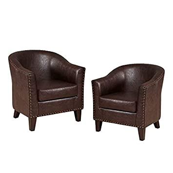 Superb Amazon Com Home Square Set Of 2 Faux Leather Accent Bralicious Painted Fabric Chair Ideas Braliciousco