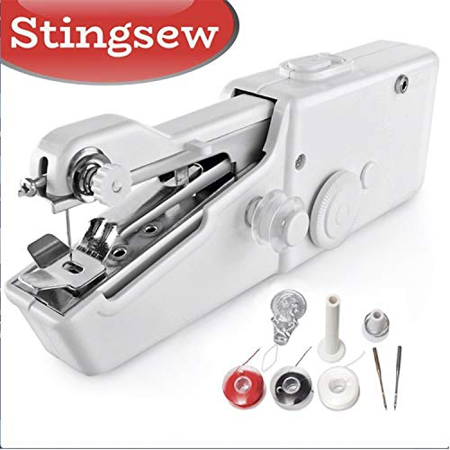 Sale!! Stingsew Portable Sewing Machine, Mini Sewing Professional Cordless Sewing Handheld Electric ...