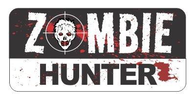 Zombie Hunter Costume Accessories (Slap-Art Zombie Hunter Vinyl Bumper Sticker)