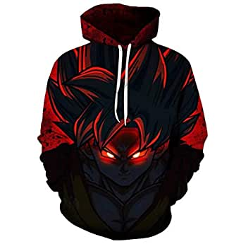 Spring and fall hot 3D digital printing dragon ball game Asian hoodie digital hoodie baseball suit