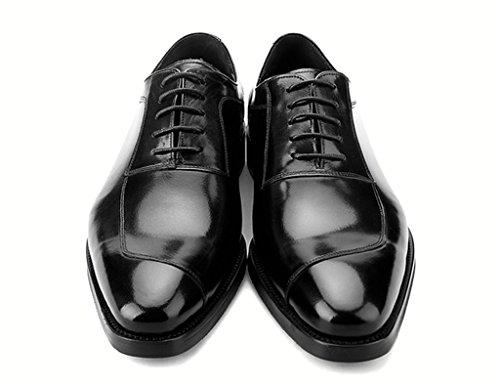 HWF Scarpe Uomo in Pelle Scarpe In Pelle Da Uomo Business Estate Maschio Cerimonia Banchetto Del Posto Di Lavoro In Pizzo (Colore : Nero, dimensioni : EU43/UK8) Nero